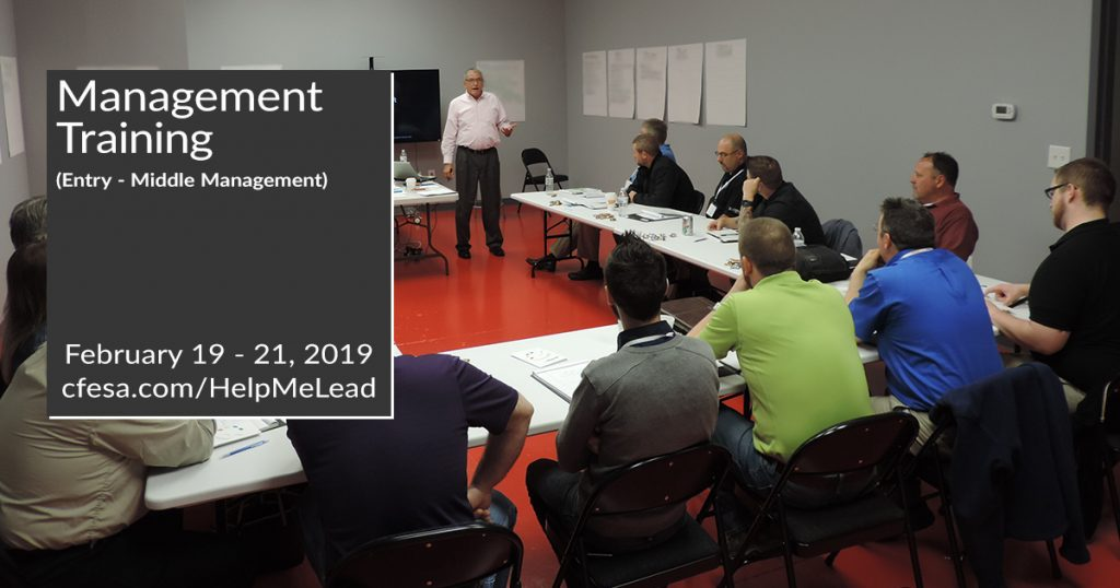 2019 Entry- Mid Management Training